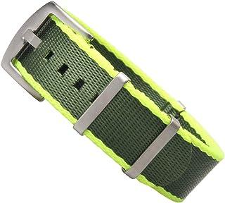 ZOVNE Nylon Watch Band -20mm 22mm - Seatbelt Nylon Watch Straps with Brushed Hardware - Ballistic Nylon Straps