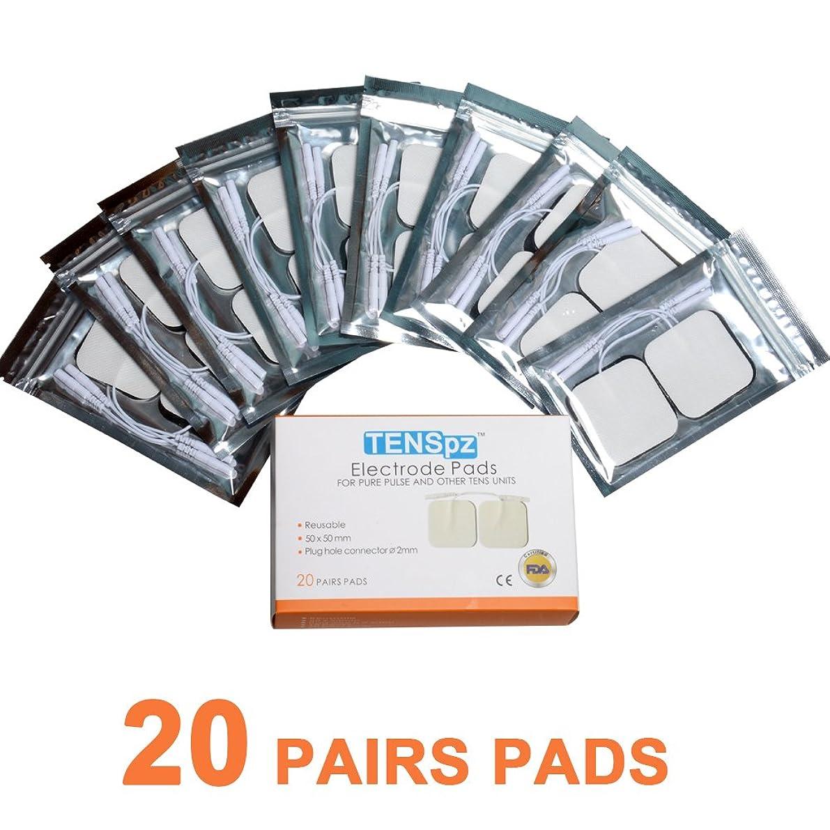 統合するばかげているネズミTens pz 粘着パッド 低周波用 5*5cm電極パッド ,10袋,4枚入り/袋