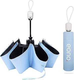 [Amazonブランド] Eono(イオーノ)日傘 折りたたみ傘ワンタッチ 自動開閉 99.9% UVカット 遮光遮熱 晴雨兼用 紫外線遮断 日焼け止め対策 耐風超撥水 超軽量 コンパクト小型 メンズ レディース 持ち運びやすい 収納ポーチ付き