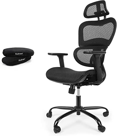 ErgoRo Ergonomic Office Chair-Rolling Desk Chair with 3D Adjustable Armrest
