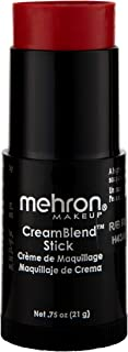 Mehron Makeup CreamBlend Stick (0.75 Ounce) (REALLY BRIGHT RED)