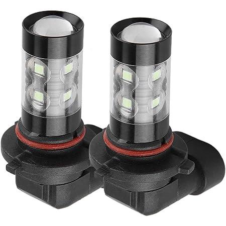 Acouto 2Pcs 9005 HB4 LED Headlight DC 12V-24V 8000K Ice Blue 50W LED Headlight Bulbs Kit Fog Light Car Driving Lamp