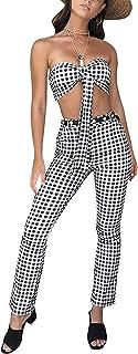 cbdfb6bbf97f5 Femme Crop Tops + Deux Pièces Eté Longue Pantalons Élégant Vêtements de  fête Casual sans Manches