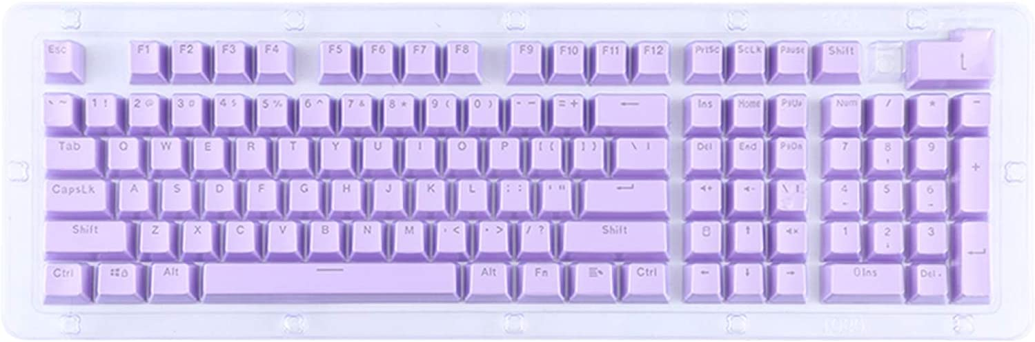SHUHAN Electronics Computer Accessory ABS Translucent Keycaps, OEM Highly Mechanical Keyboard, Universal Game Keyboard Input Device (Color : Purple)