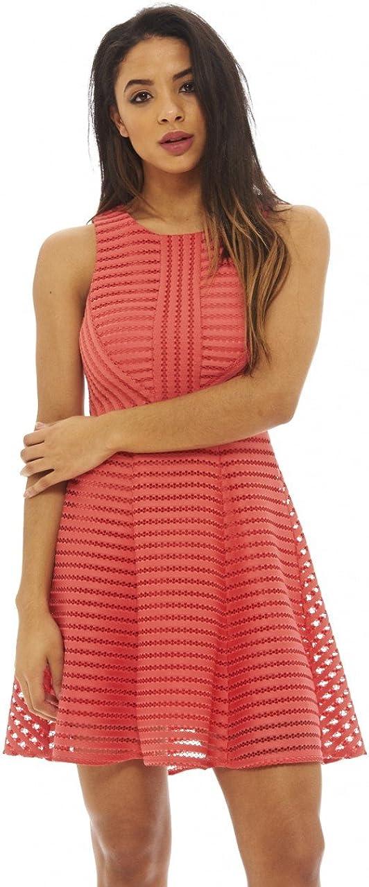 AX Paris Excellent Women's A Line Dress with Mesh Detail Superior
