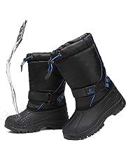 [fantiny] スノーブーツ 女の子 男の子キッズ ジュニア ブーツ 防水 保暖 冬用ブーツ 雪遊び スキー 雪用ブーツ 子供靴