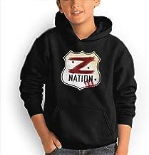 Teen Hoodies, Giacomo Badali Mens Z Nation Vs TWD Logo Hooded Sweatshirt Cool Aesthetic Pullover Hoodie for Boys Girls Teens Black