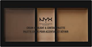 NYX PROFESSIONAL MAKEUP Cream Highlight & Contour Palette, Deep, 0.38 Ounce