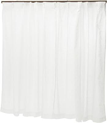Shyness レースカーテン ホワイト 100×135cm ZG1876WH-CT-133