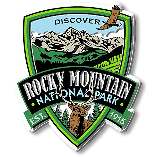Rocky Mountain National Park Vintage Rubber Magnet