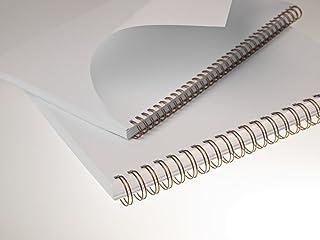 16mm Bind2go White Binding Combs A5 Box 100x 14 Rings