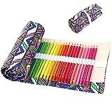 Cobee Stiftrolle Mäppchen canvas für Sketching Reisen Zeichnung Buntstifte böhmischer Stil Anti-Pilling-Design umweltfreundliches Material (Bleistifte sind nicht im Lieferumfang enthalten)