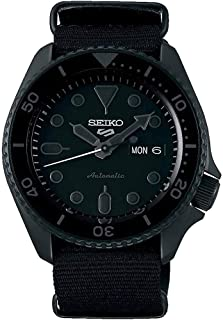 Seiko Men's Black Nylon NATO Strap Automatic Watch - SRPD79