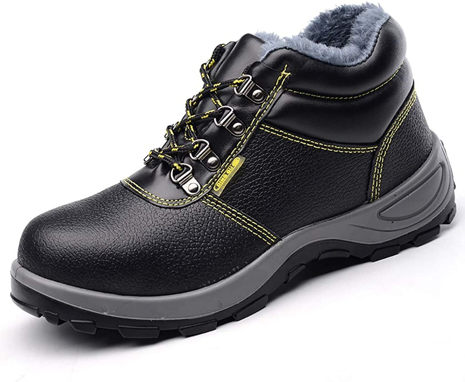 ZYFXZ Safety shoes Safety shoes men's safety boots steel toe caps anti-smashing puncture site safety work shoes work boots (color   Without velvet, Size   37)