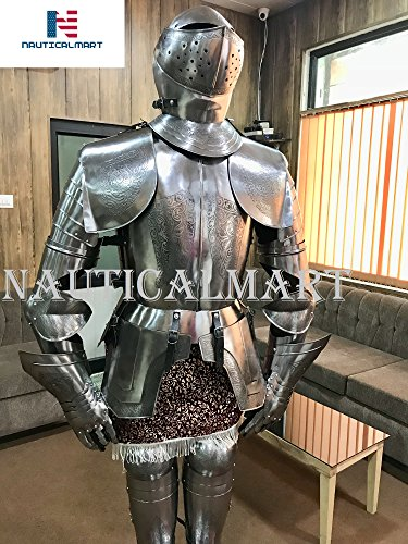 NauticalMart Medieval Knight Spanish Suit of Armor 16th Century Etched Italian Plate Armour