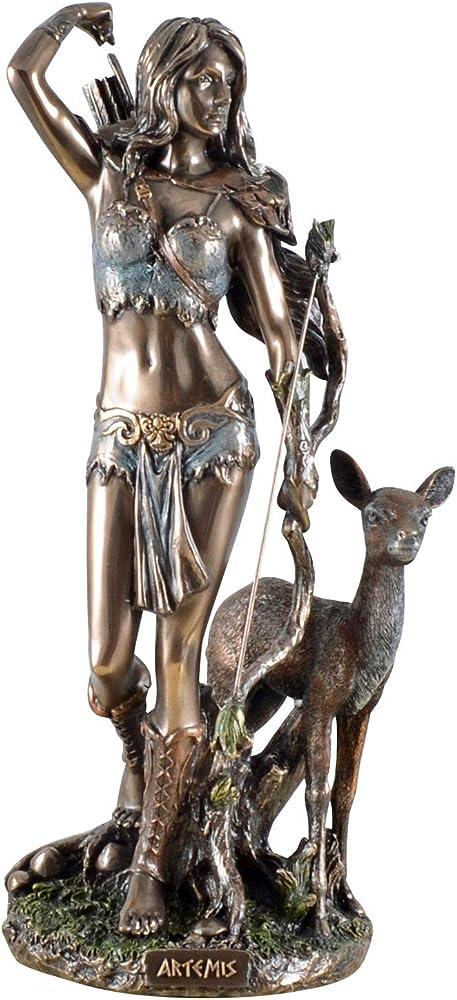 Veronese statua della dea greca della caccia artemis