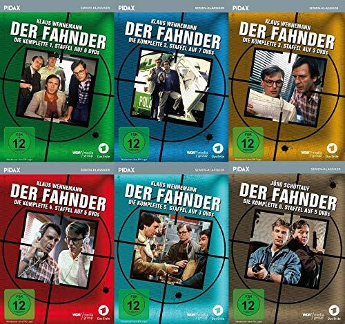 Der Fahnder, Staffel 1 - 6 / (Komplette Serie) Kult-Krimiserie (Pidax Serien-Klassiker) im Set - Deutsche Originalware [29 DVDs]