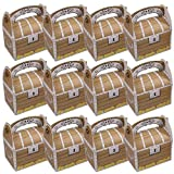 cobalt planet 宝箱型 ケーキボックス 手提げ ケーキ箱 ギフトボックス ハンドボックス セット (宝箱Aタイプ 12枚)