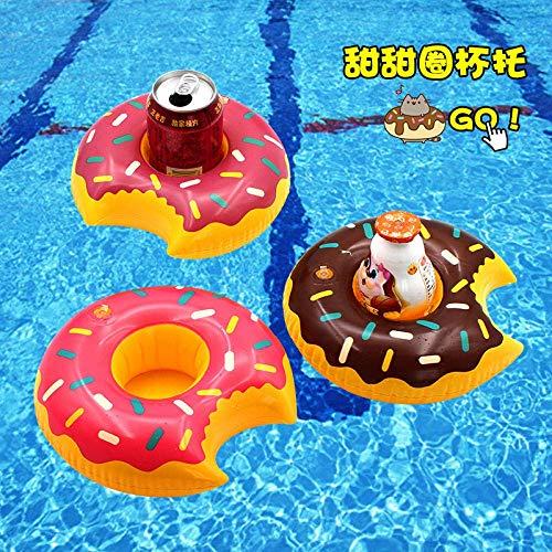 HIGHKAS Pool schwimmt für Erwachsene Aufblasbares Poolspielzeug Aufblasbarer Kleiner Regenschirm Aqua schwimmender Getränkebecherhalter Sitzhalter Telefonsitz Spielzeug