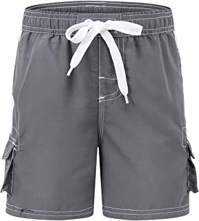 7f22cfecd5 Akula Boys' Quick Dry Swim Trunks Kids Beach Board Shorts with Mesh Lining