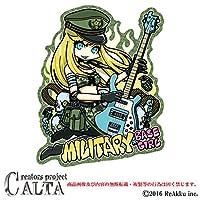 CALTA-ステッカー-MILITARY BASE GIRL (1.Sサイズ)