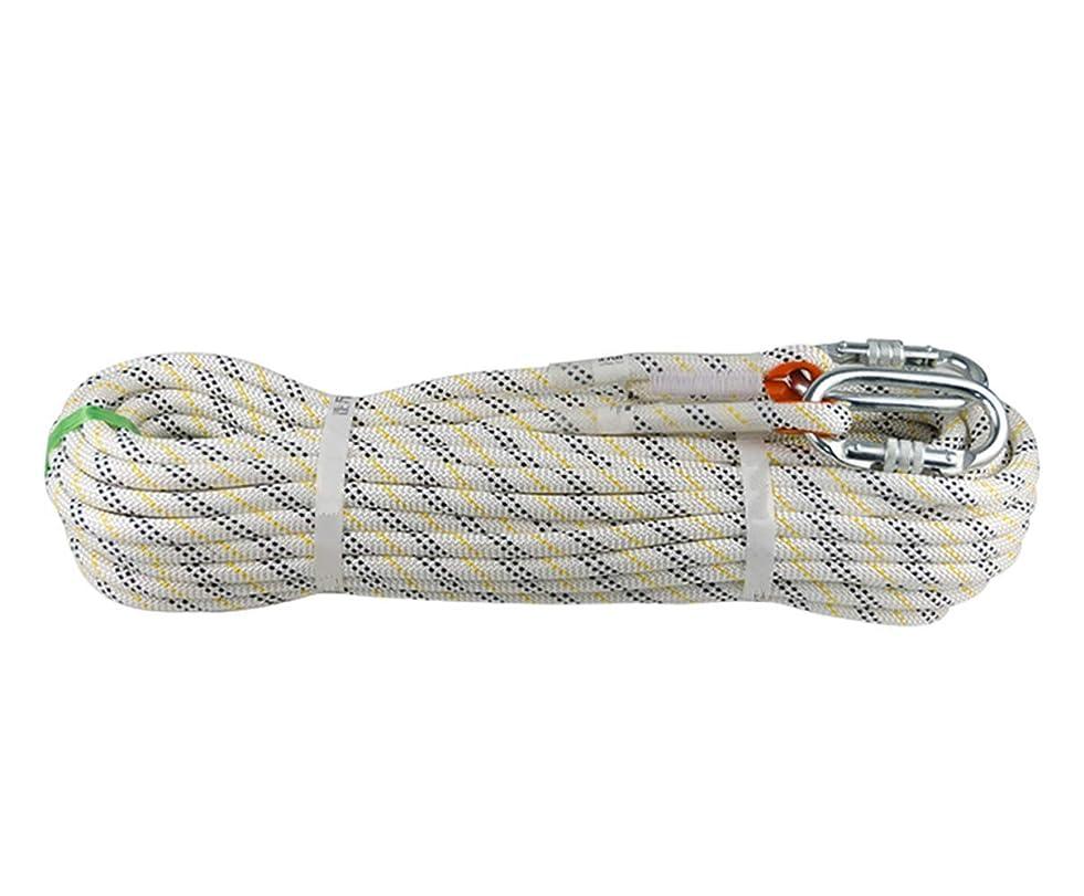 専門知識エロチック役立つHONEI 12mm クライミングロープ ザイル ガイロープ スタティックロープ 33KNプル高強度 登山 アウトドア キャンプ 防災 安全 カラビナ 二個 付き 4長さ選べる