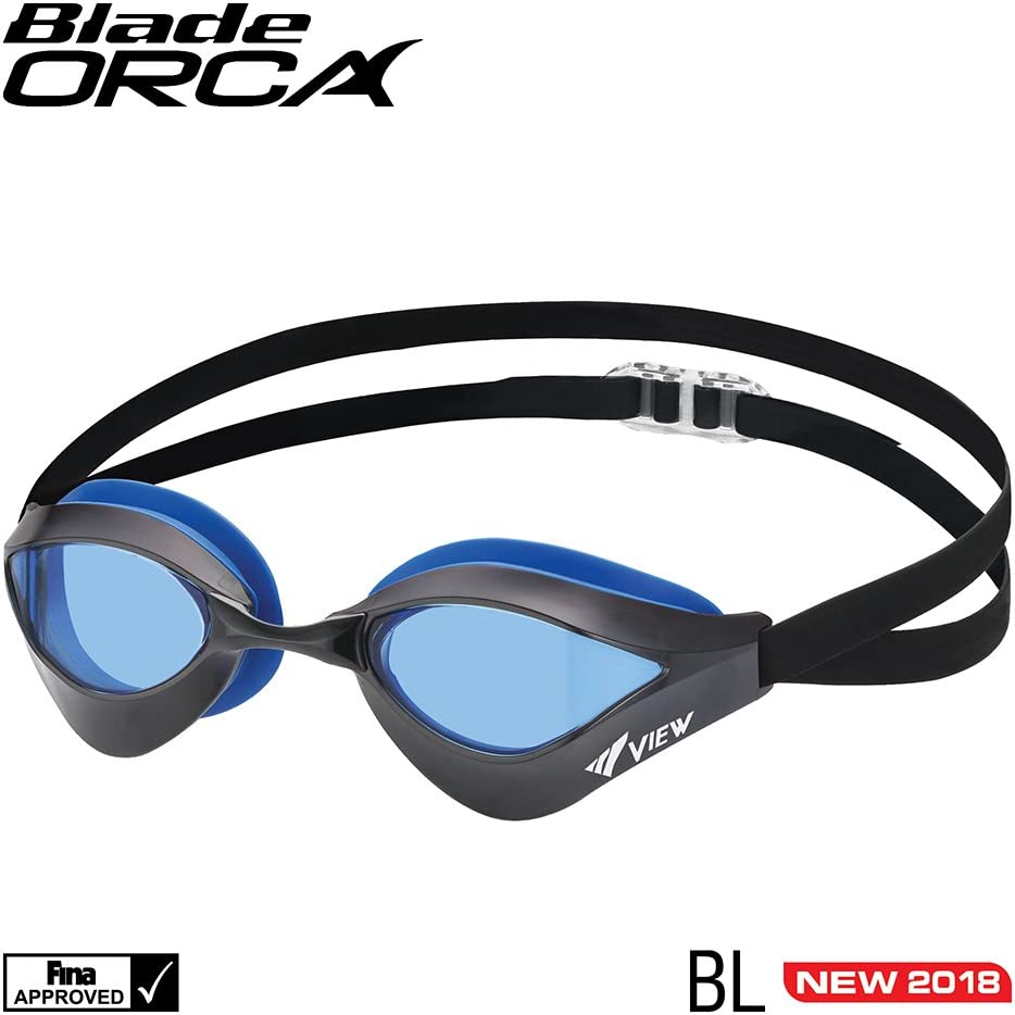 VIEW Swimming Gear V-230 Blade Orca Racing Swim Goggles