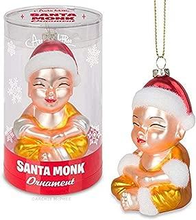 Accoutrements Santa Monk Ornament Christmas Novelty Decoration