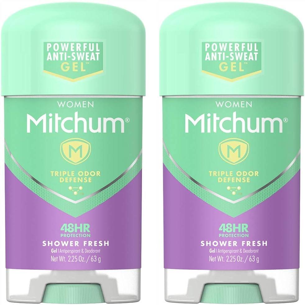 哲学博士パウダー広げるMitchum Power Gel Shower Fresh