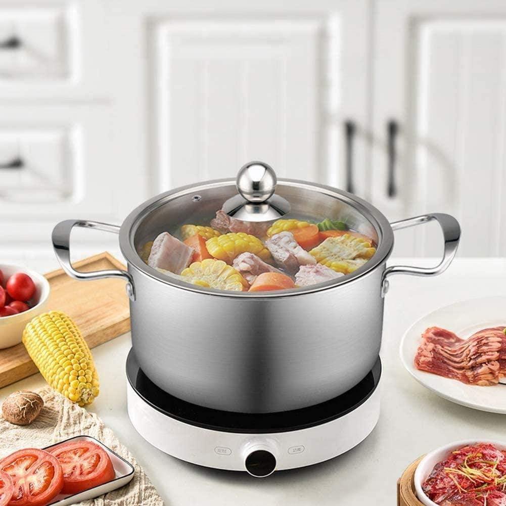 HYYDP Pot Acier inoxydable Marmite épaissie soupe au lait Pot, Casserole Cuisine Chaudière soupe de cuisson Stock Iduction gaz Casseroles Pots (Color : 24cm) 24cm