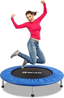 """BCAN 38"""" Foldable Mini Trampoline, Fitness Trampoline with Safety Pad, Stable &.."""