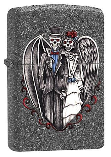 Zippo Custom Lighter: Skeleton Wedding - Iron Stone 78564
