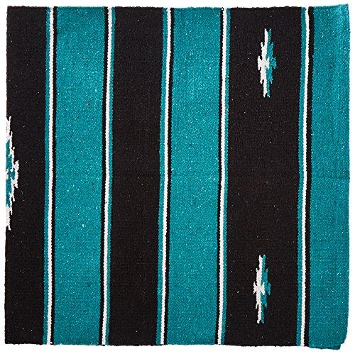 Tough 1 Wool Sierra Saddle Blanket, Teal/Black