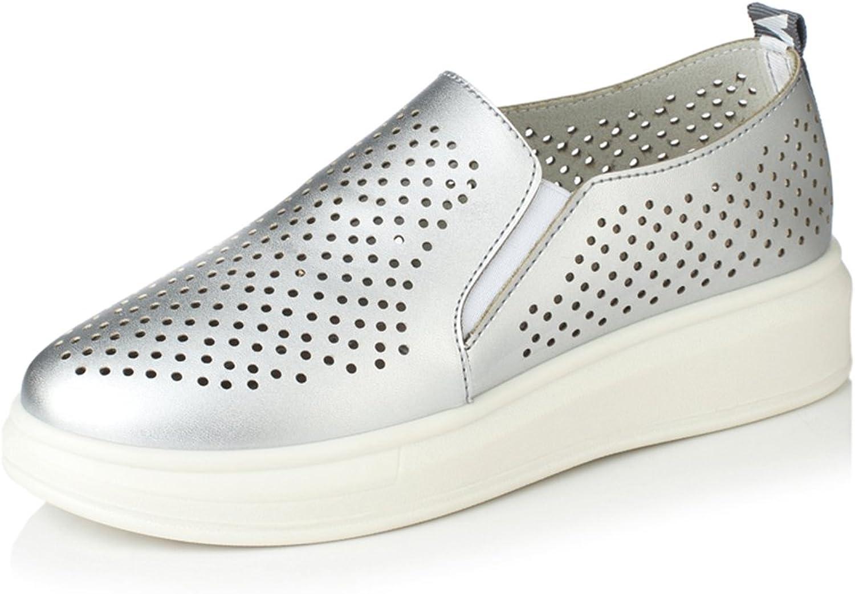 Faloaon Women's Leather Loafer Fashion Platform shoes Slip-on