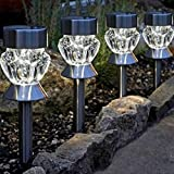 Living Lane Set of 4 Solar LED Garden Lights