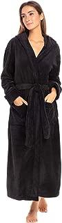 Women's Plush Fleece Robe with Hood, Warm Bathrobe 1X 2X...