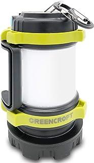 GREENCROFT LEDランタン 充電式 キャンプランタン アウトドア 夜釣り 懐中電灯 ライト 防災 多機能 非常用 頑丈