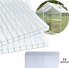 Universal Stegplatten 4,5 mm klar für Gewächshäuser 120 x 80 cm