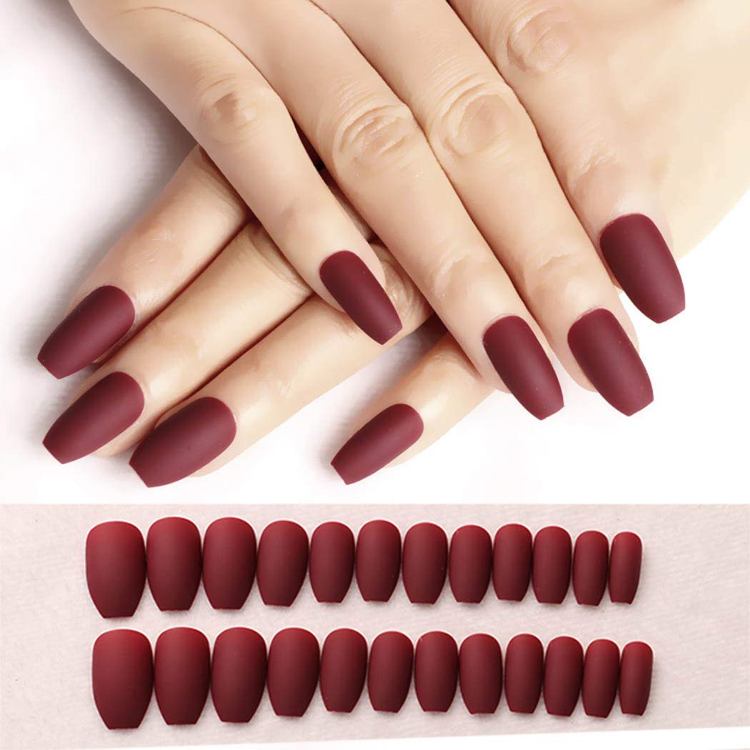 trust CanB Coffin Fake Nails Matte on Ballerina False Fixed price for sale Nail Press