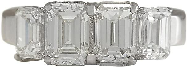 3.5 carat emerald cut diamond ring