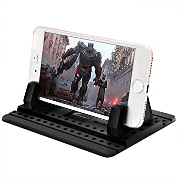Phone Stand For iPhone Android Phone /& GPS Center Console Or Desk lebogner Car Phone Holder Anti Slip Silicone Cell Phone Mount For Your Dashboard Option To Show Or Hide Your Phone Number Galaxy