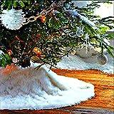Peluche Base de árbol de Navidad cubierta de la base Pure Color Blanco Larga nieve alfombra...