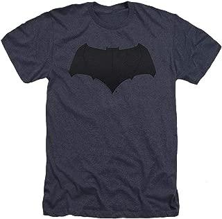 Batman v Superman Movie Batman Uniform Logo Heather T Shirt & Stickers