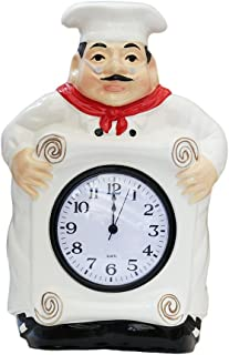 fat chef kitchen clock