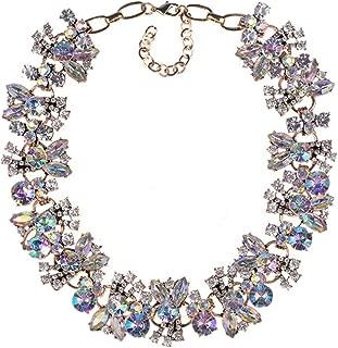 Azhido Bling Rhinestone Crystal Choker Collar Necklace Short Bib Statement Chunky Jewelry