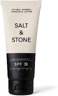 SALT & STONE SPF 30 Mineral Sunscreen Lotion - Mineral, Zinc Oxide, Broad Spectrum, Water Resistant, Reef Safe, Face + Bod...