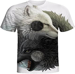 Deals T-Shirt,2018 Summer Fashion Boys Men 3D Graphic Lion Printed Short Tee Tops by ZYooh