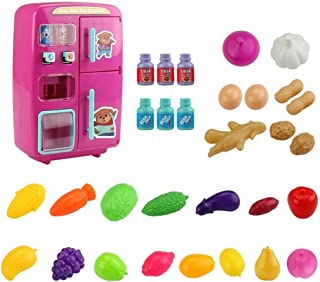 Vending Machine for Kids,Electric Simulation Double Refrigerator, Small Appliances Play House for Boys and Girls.
