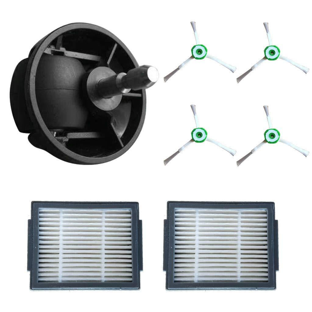 Sansee - Juego de accesorios para robot aspirador iRobot Roomba i7, i7+, e5, e6, e7, 4 cepillos laterales, 2 filtros y 1 rueda universal para iRobot Roomba Robot Vacuum (7 piezas): Amazon.es: Hogar