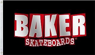 Baker Skateboards Flag 3x5 Ft Large,Vivid Color and UV Fade Resistant- Skate Banner Great for College Dorm,Room Decor,Outd...